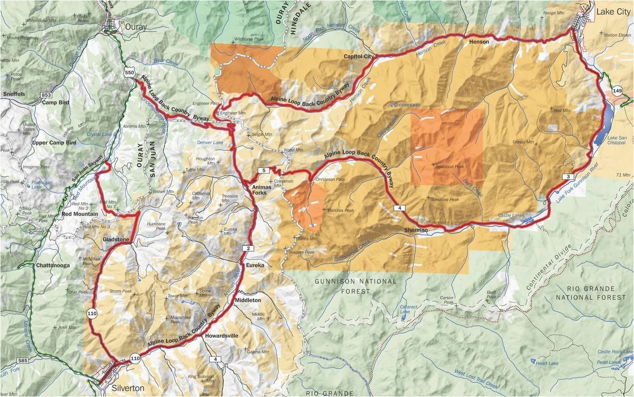 this regional area map highlights the course of the scenic alpine