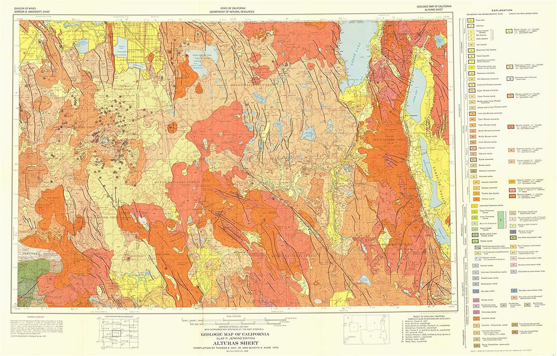 amazon com mining map alturas california sheet ca mines 1956