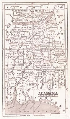 alabama antique maps and old maps