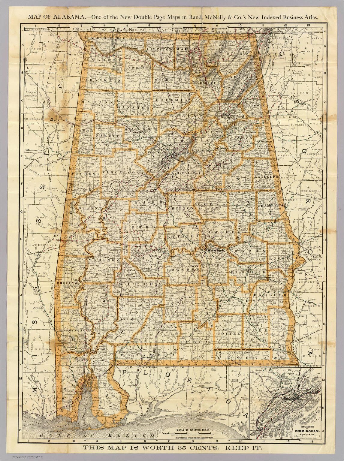 map of alabama david rumsey historical map collection