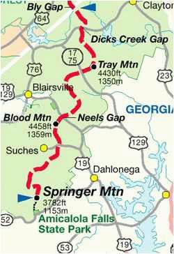 appalachian trail georgia map elegant us map appalachian mountains