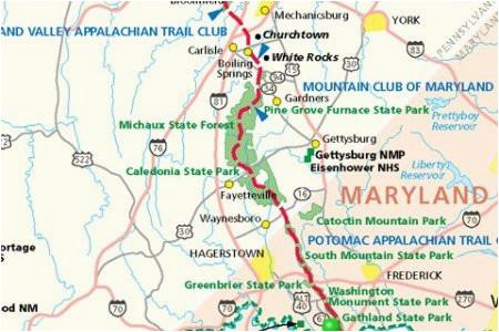 Appalachian Trail Map Georgia Appalachian Trail Georgia Map Unique ...