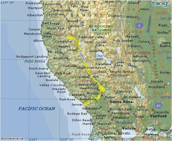 the russian river flows through mendocino and marin counties in