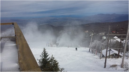 a great view from the deck on top of beech mountain picture of