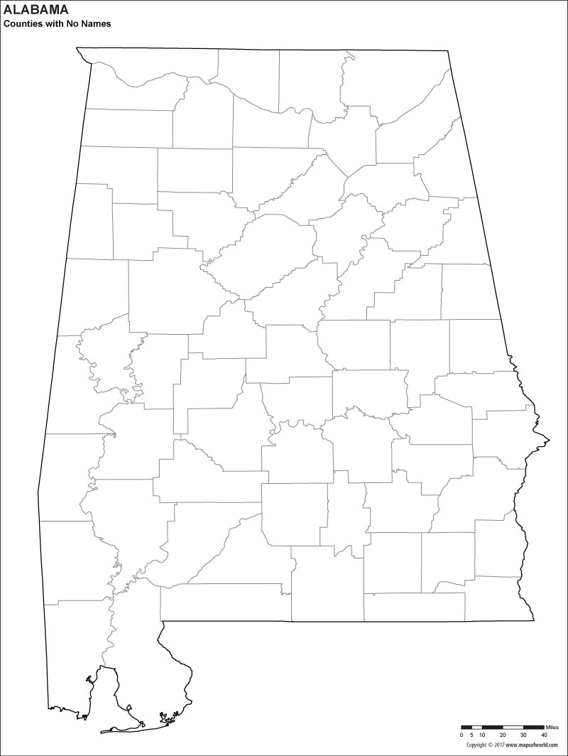 Blank Map Of Alabama 1
