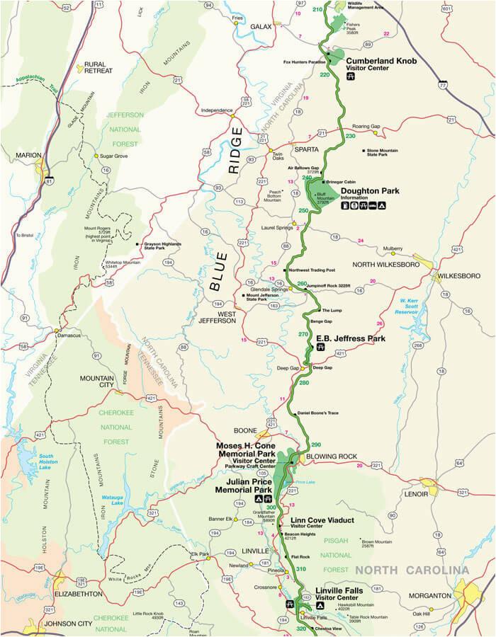 appalachian trail north carolina map beautiful blue ridge parkway