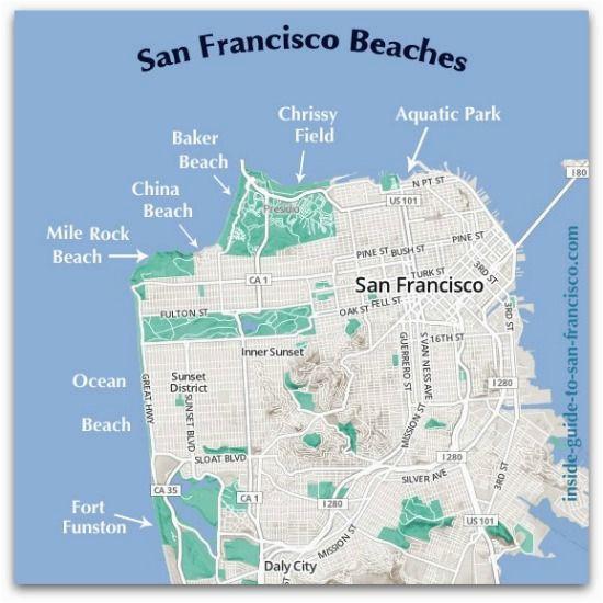 san francisco beaches map places i d like to go pinterest san