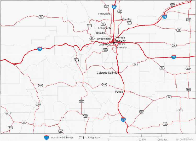 34 colorado highway map maps directions