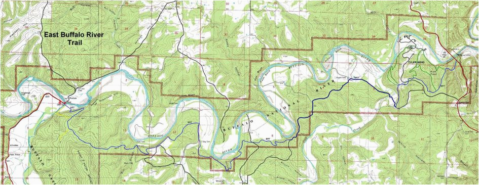 printable download us topographical maps buffalo river trail