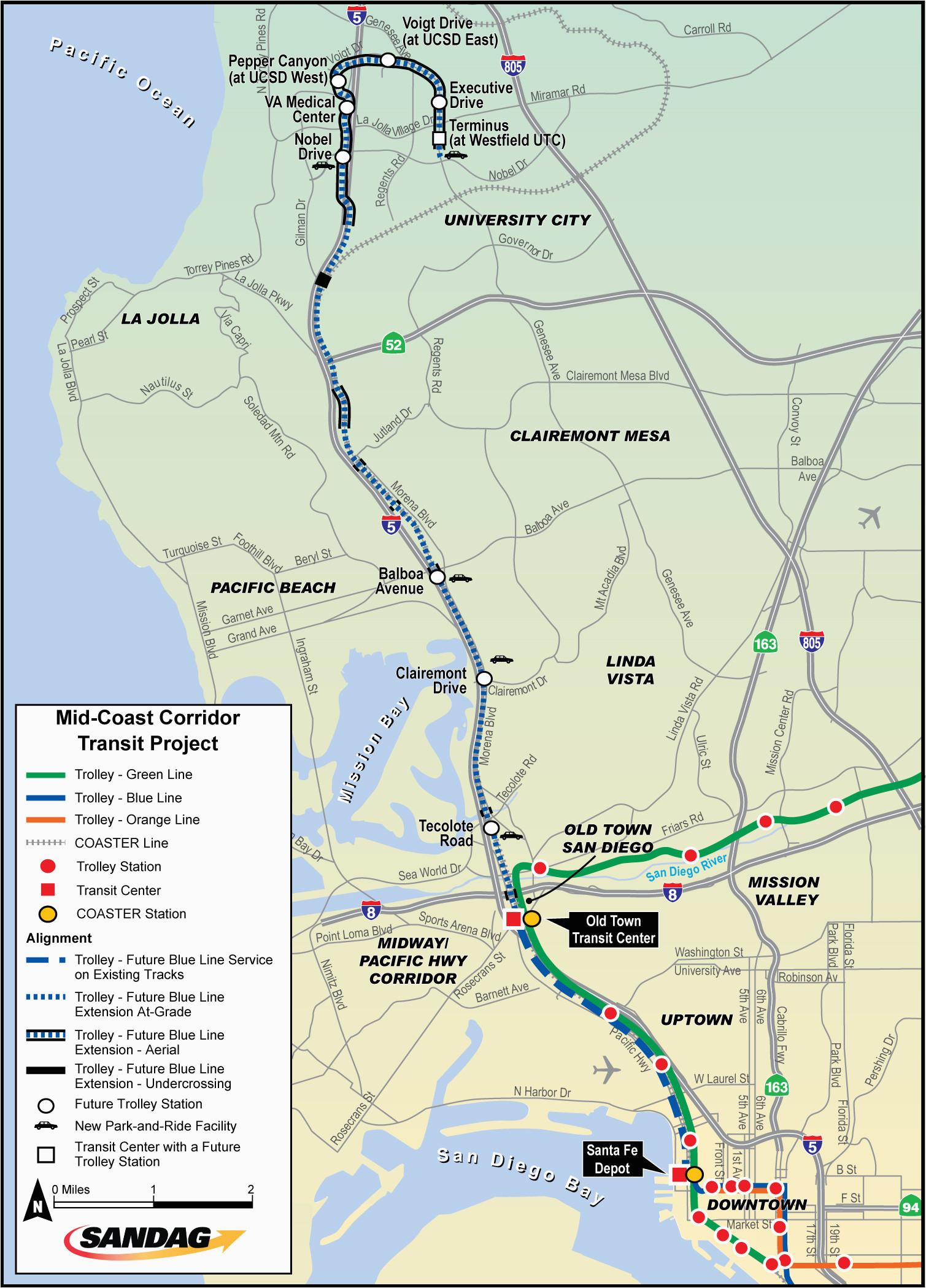 california coastal commission map detailed mid coast trolley ucsd