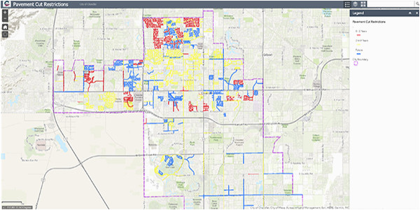map library city of chandler