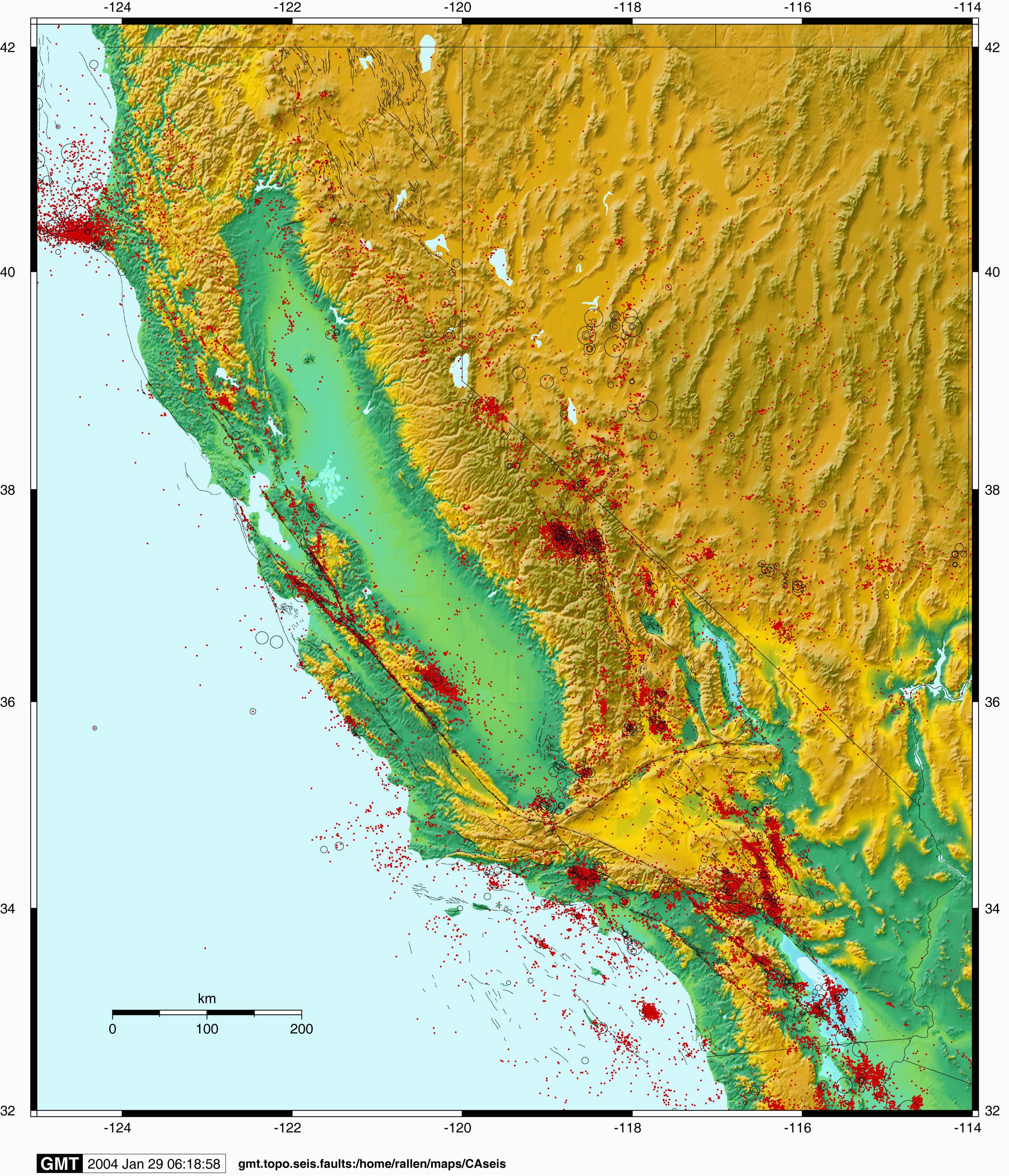 earthquake map northern california fresh lists earthquakes epic
