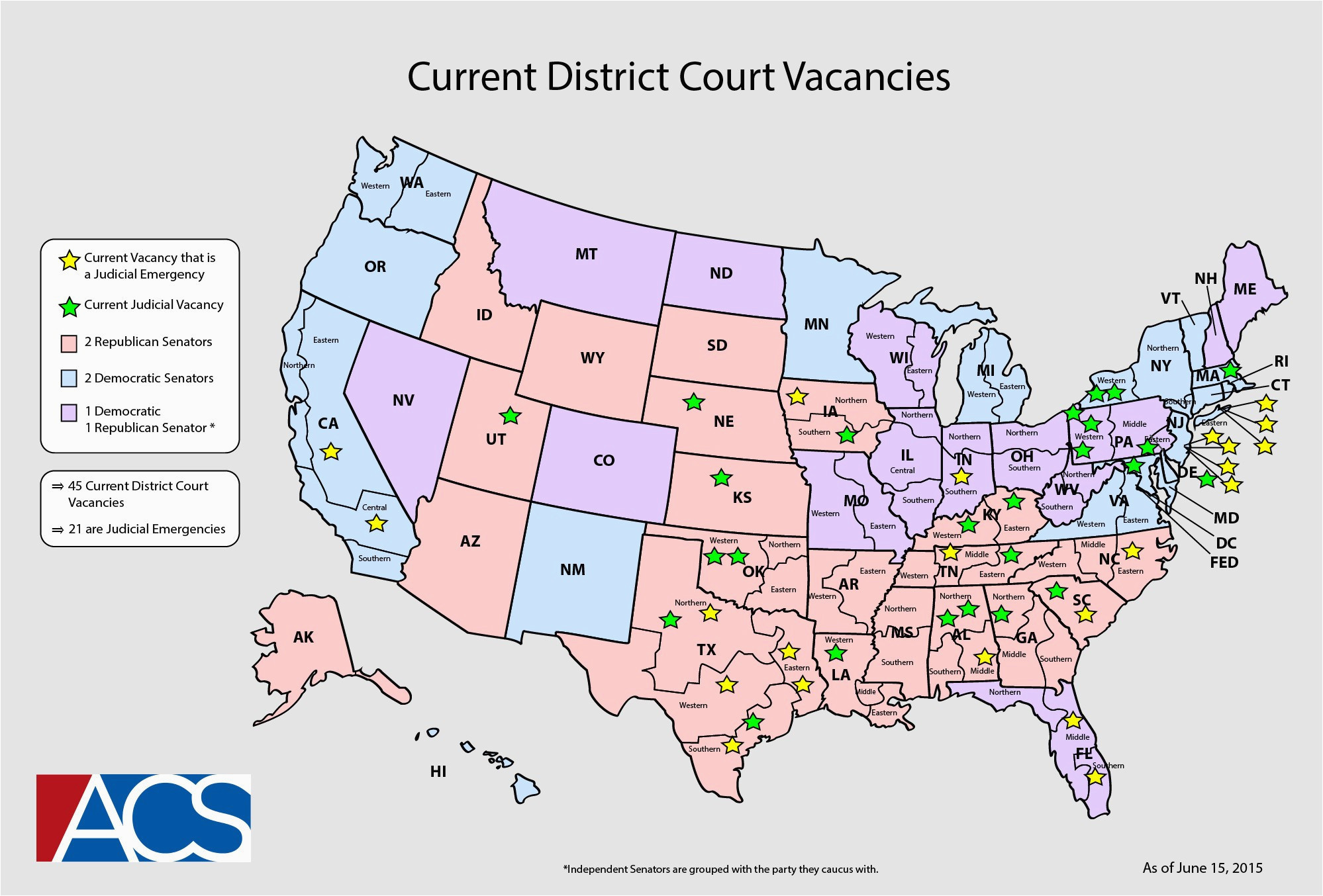 California Federal District Court Map | secretmuseum on