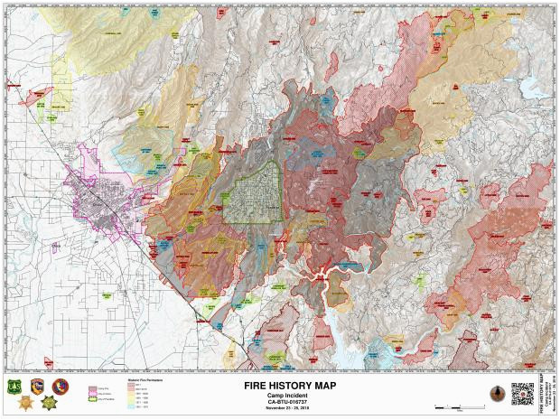 camp fire maps inciweb the incident information system