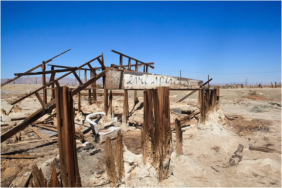 ruins of bombay beach picture of california ghost towns