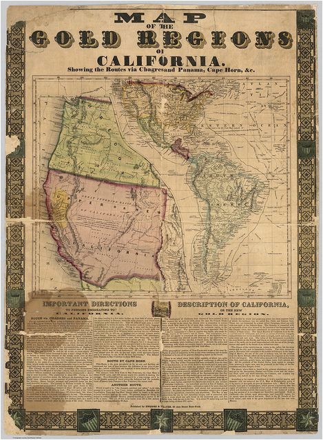 1849 california gold rush map by drbeefsmack via flickr maps