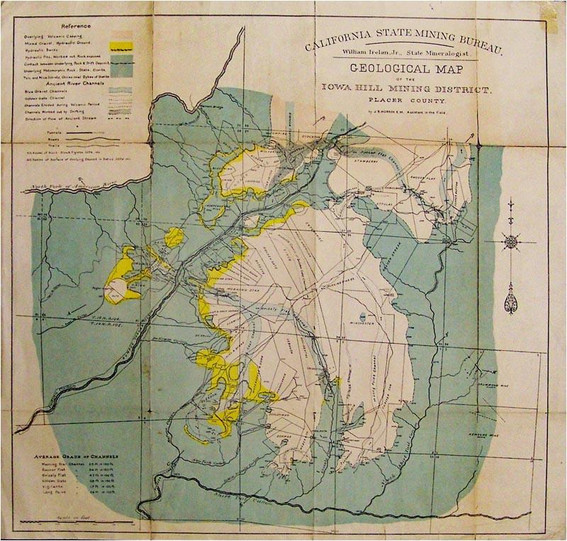 prints old rare mining antique maps prints