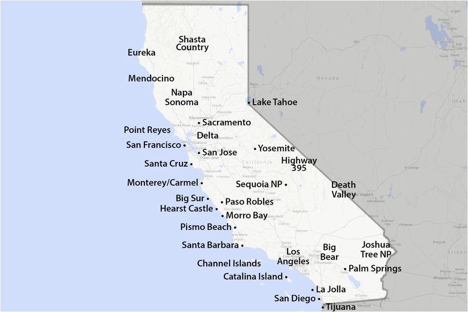 maps of california created for visitors and travelers