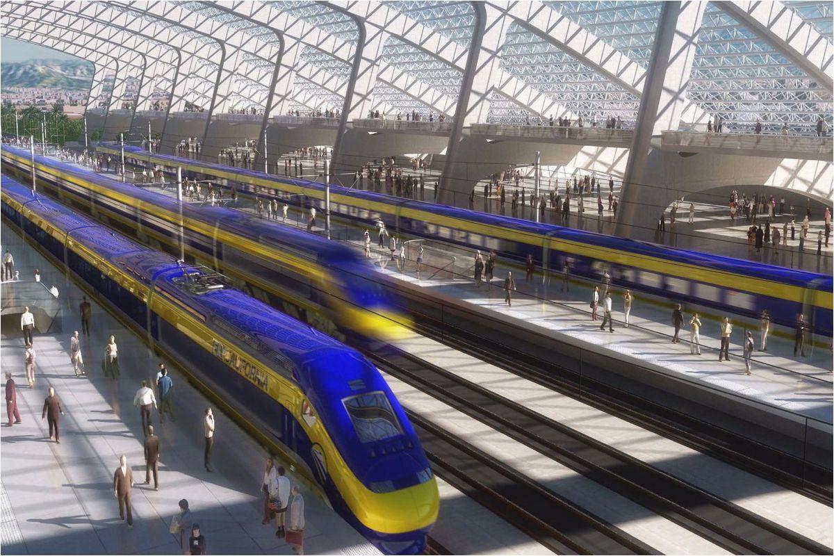 map shows high speed rail s sluggish progress curbed sf