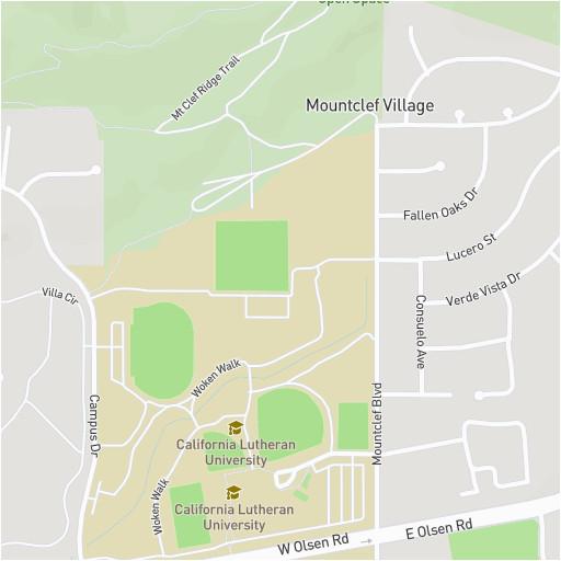 cal lutheran map
