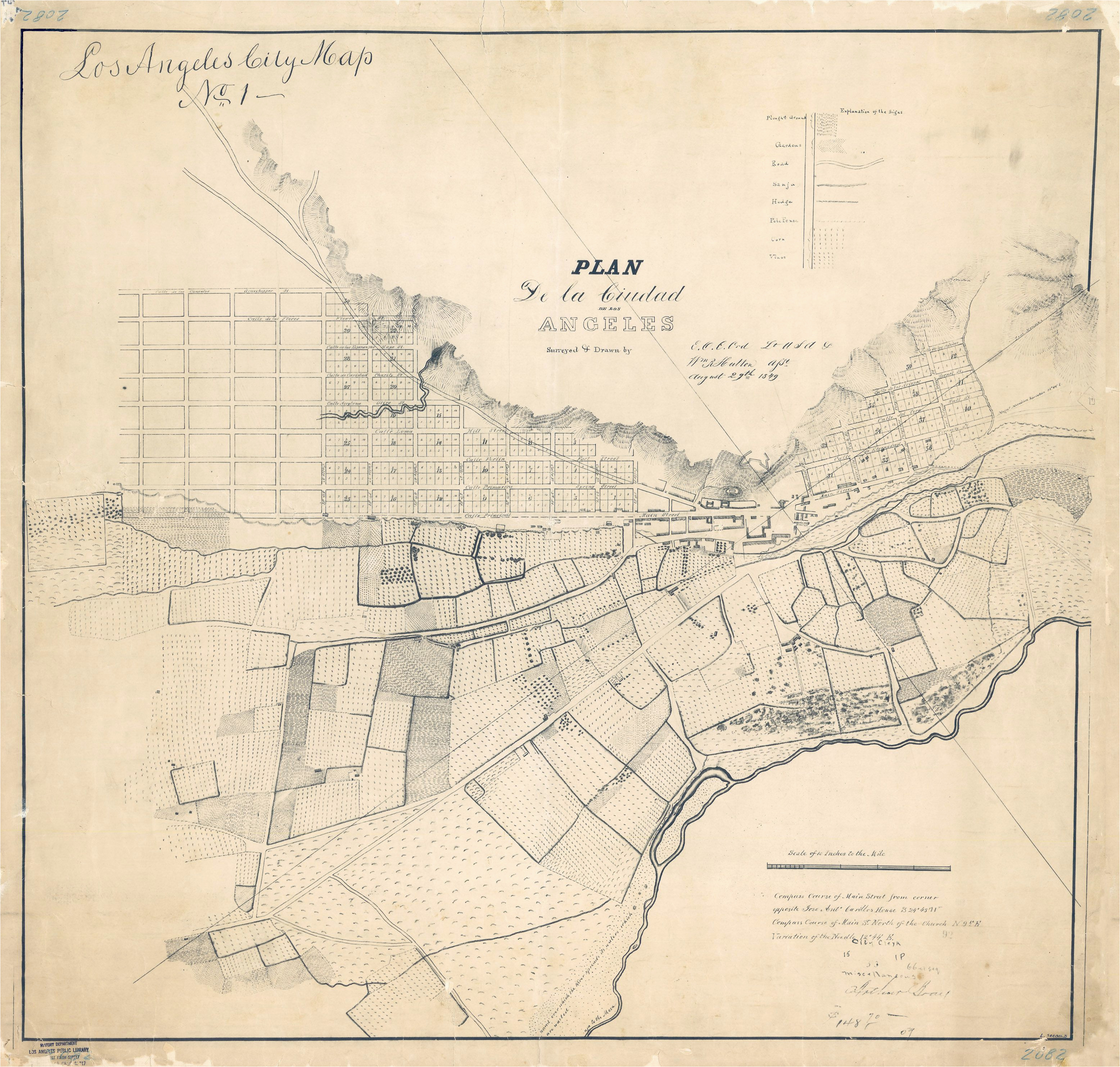 the first map of los angeles may be older than you think bygone