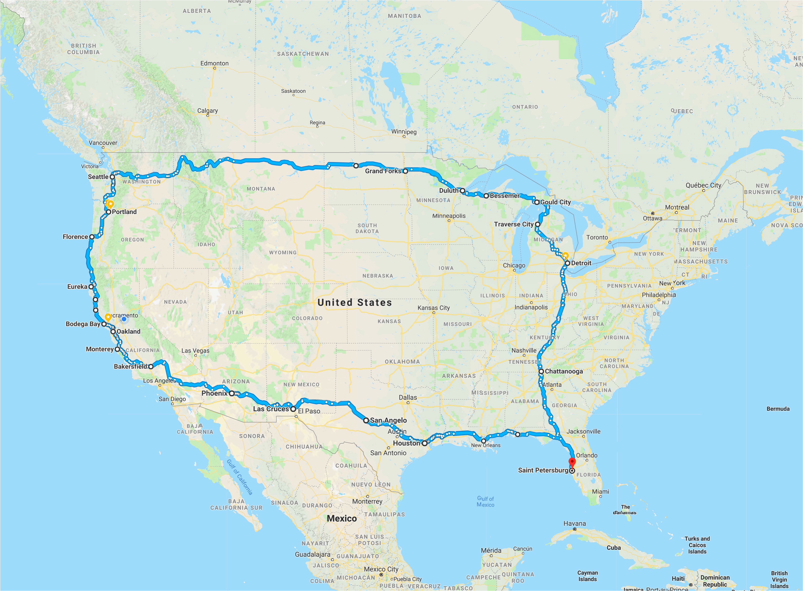 California Road Trip Trip Planner Map | secretmuseum on