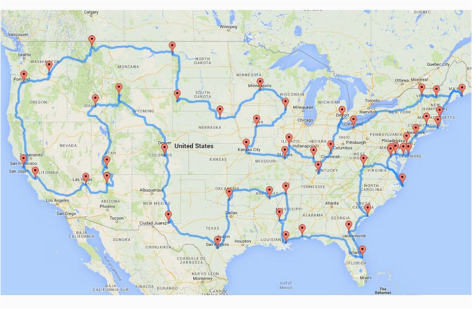 California Road Trip Trip Planner Map U S Road Trip that Hits Major on