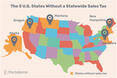 California Sales Tax Map U S States with Minimal or No Sales