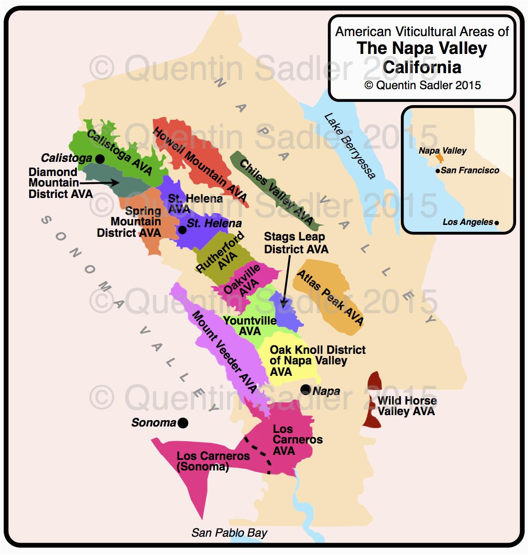 California Wine Map Pdf California Quentin Sadler S Wine