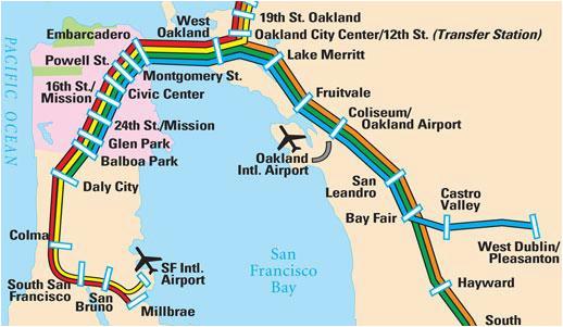 Castro Valley California Map San Francisco Maps For Visitors Bay
