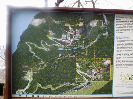 a good map for orientation picture of chimney rock state park