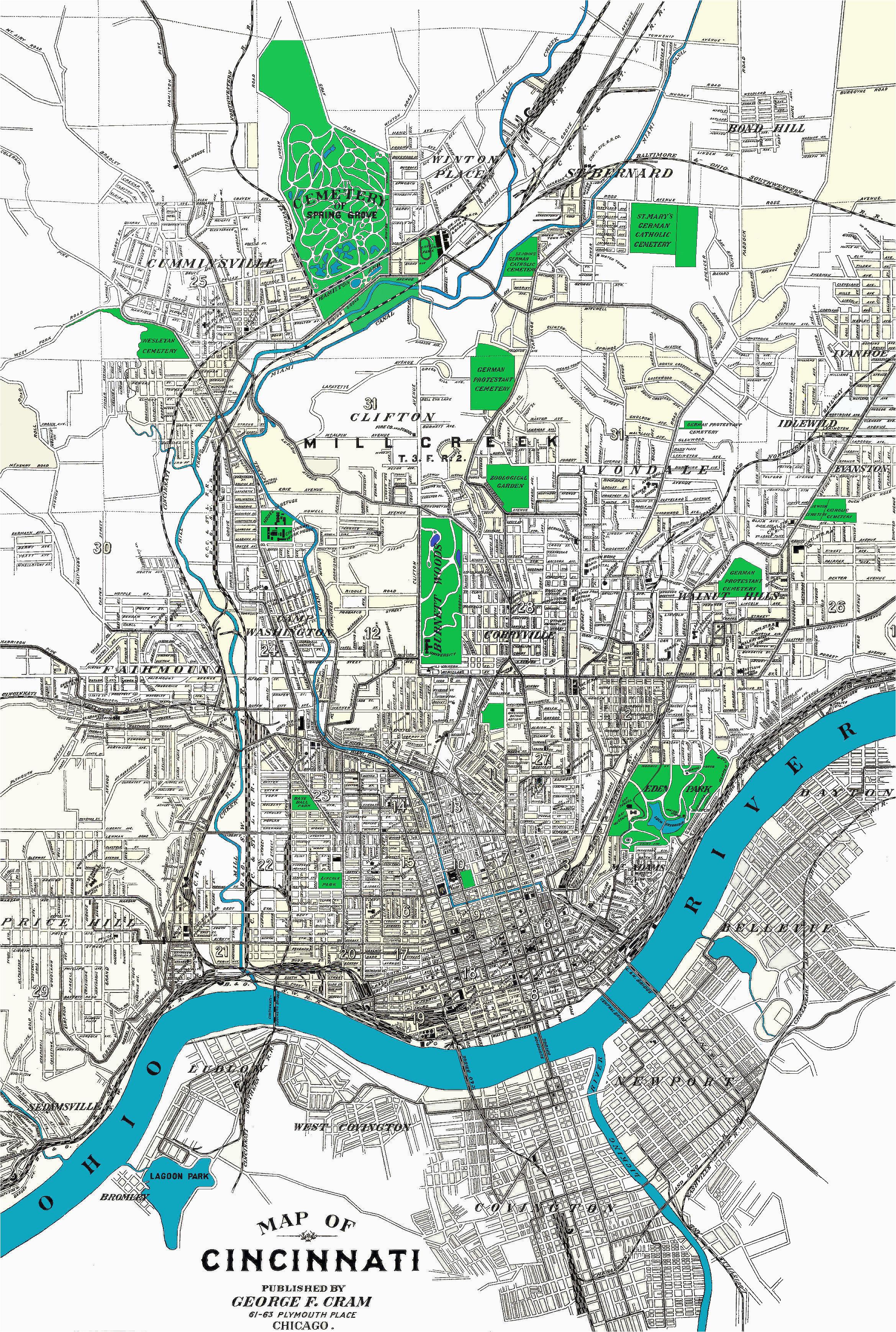 Cincinnati Ohio On A Map | secretmuseum on