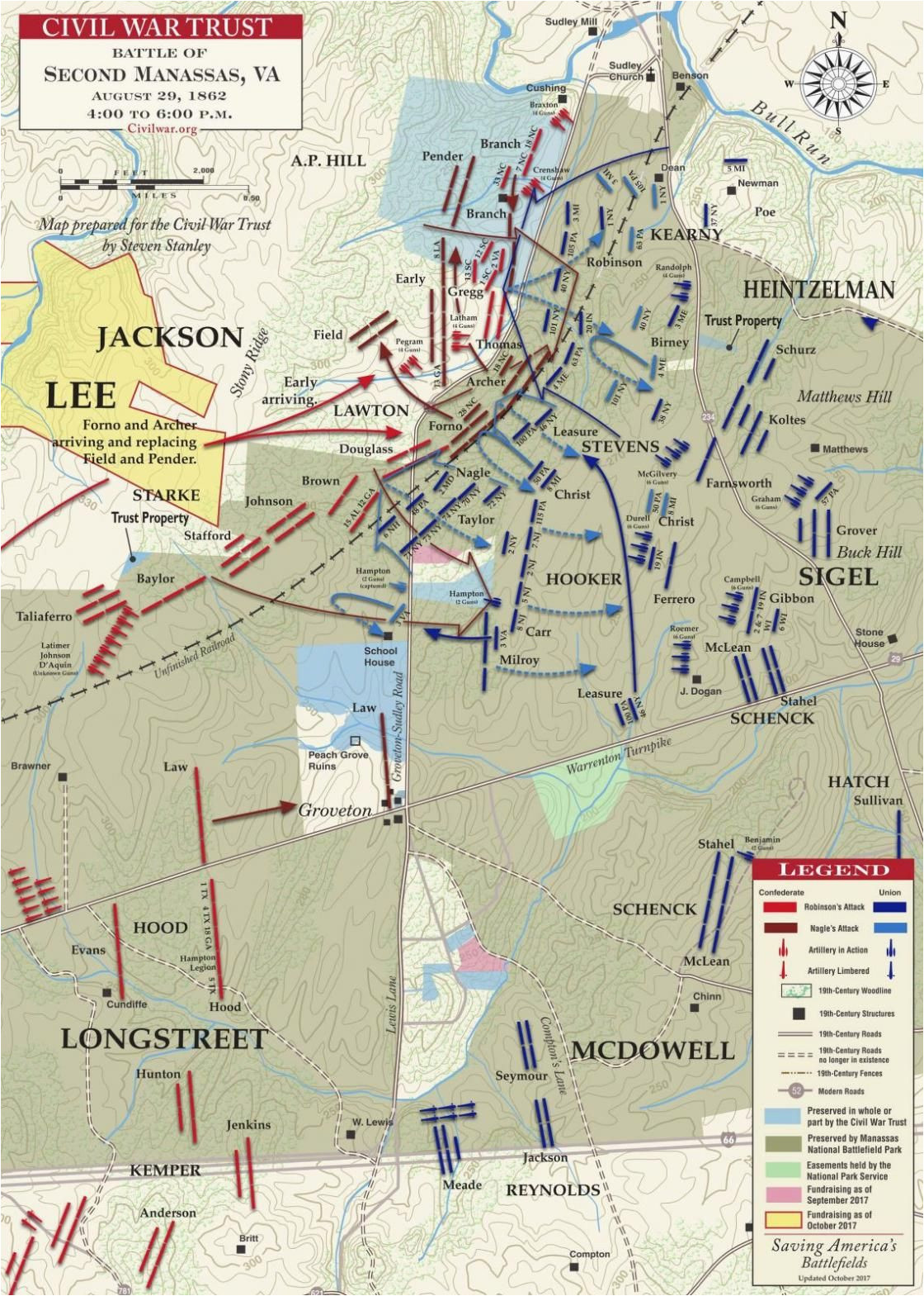 second manassas 4pm to 6pm august 29 1862 second battle of