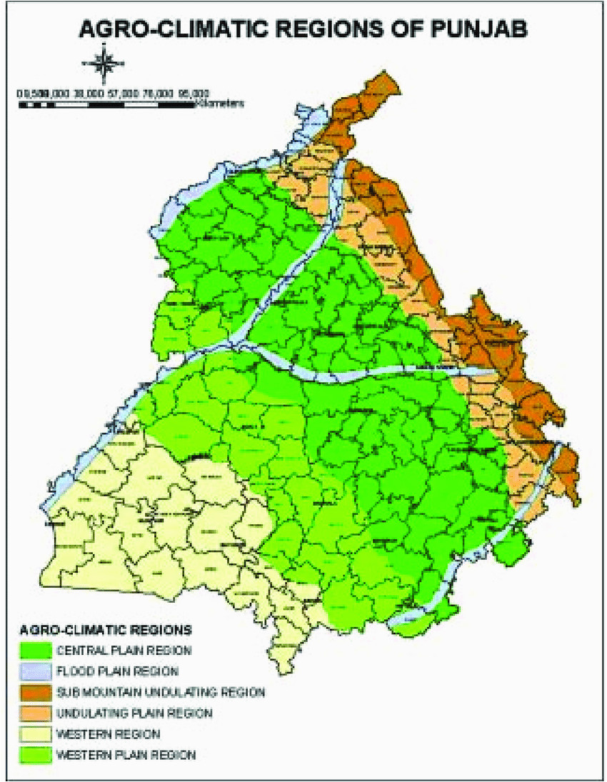 Climate Map Of Colorado Agro Climatic Map Of Punjab State northern