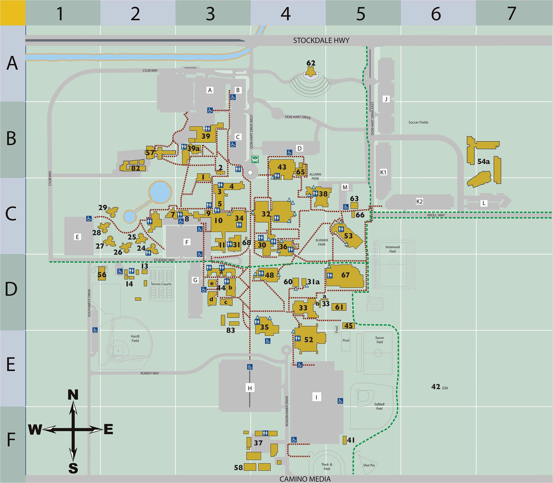 campus map csu bakersfield