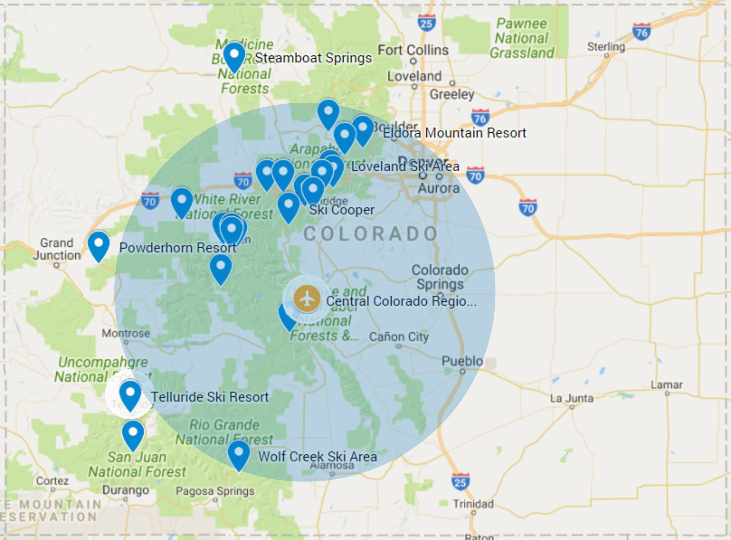 Colorado Airports Map Map Of Airports In southern California Best Of ...