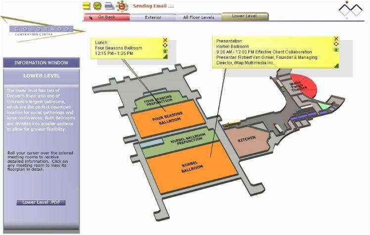 imap s interactive floor plan for the colorado convention center