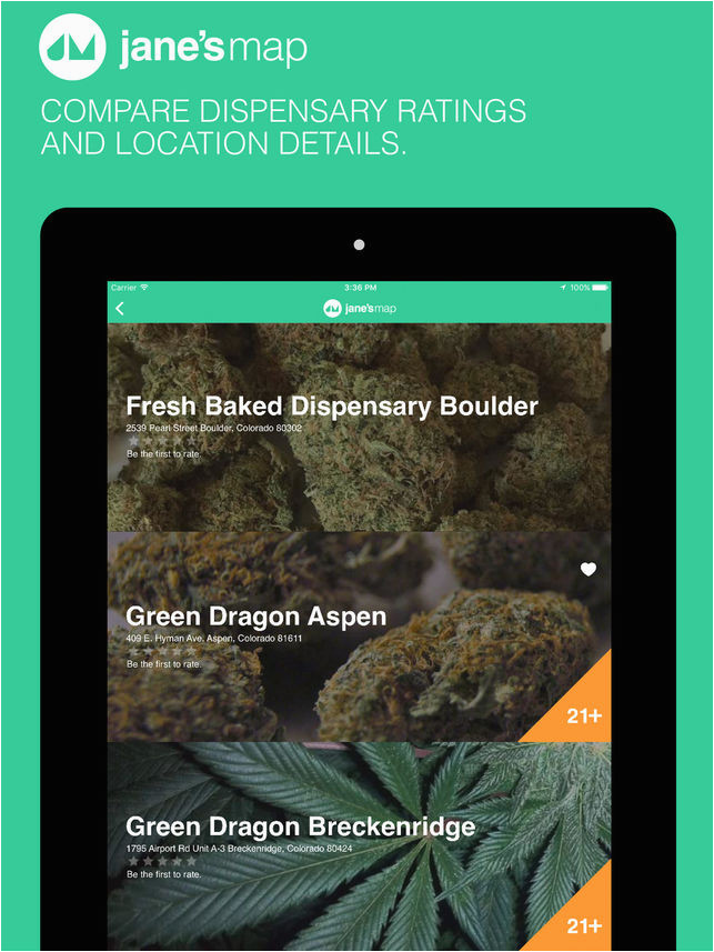 jane s map find and rate cannabis dispensaries on the app store