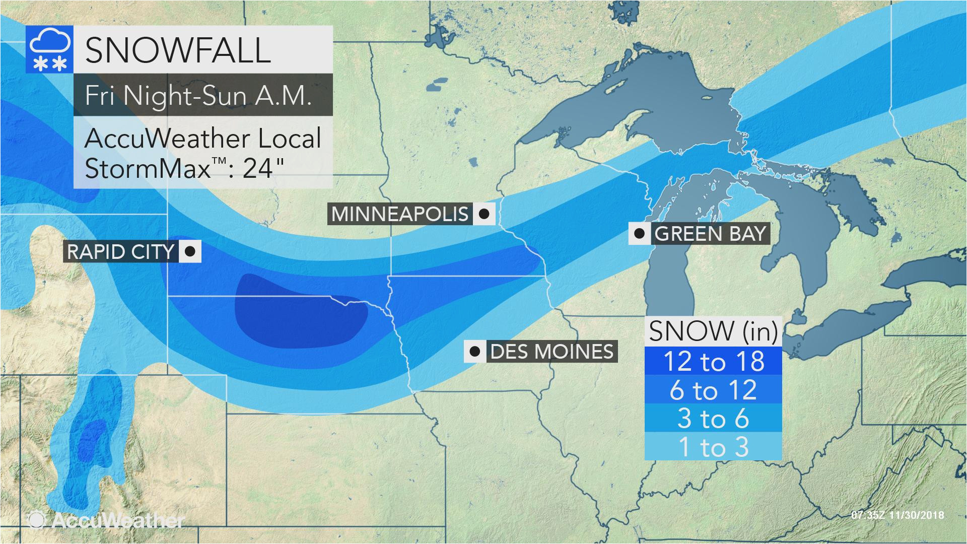 2nd blizzard of season to eye north central us during 1st weekend of