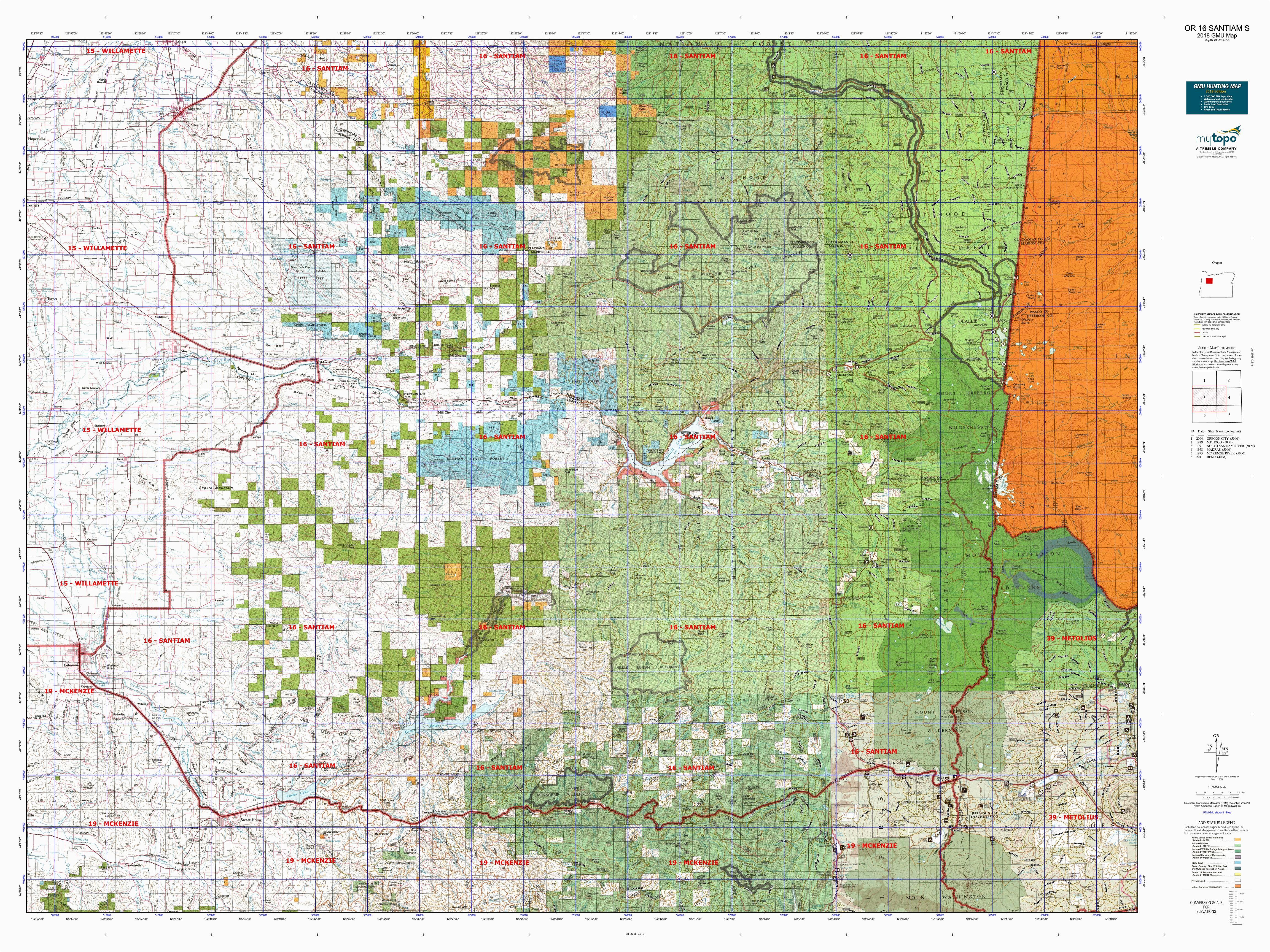 or 16 santiam s map mytopo