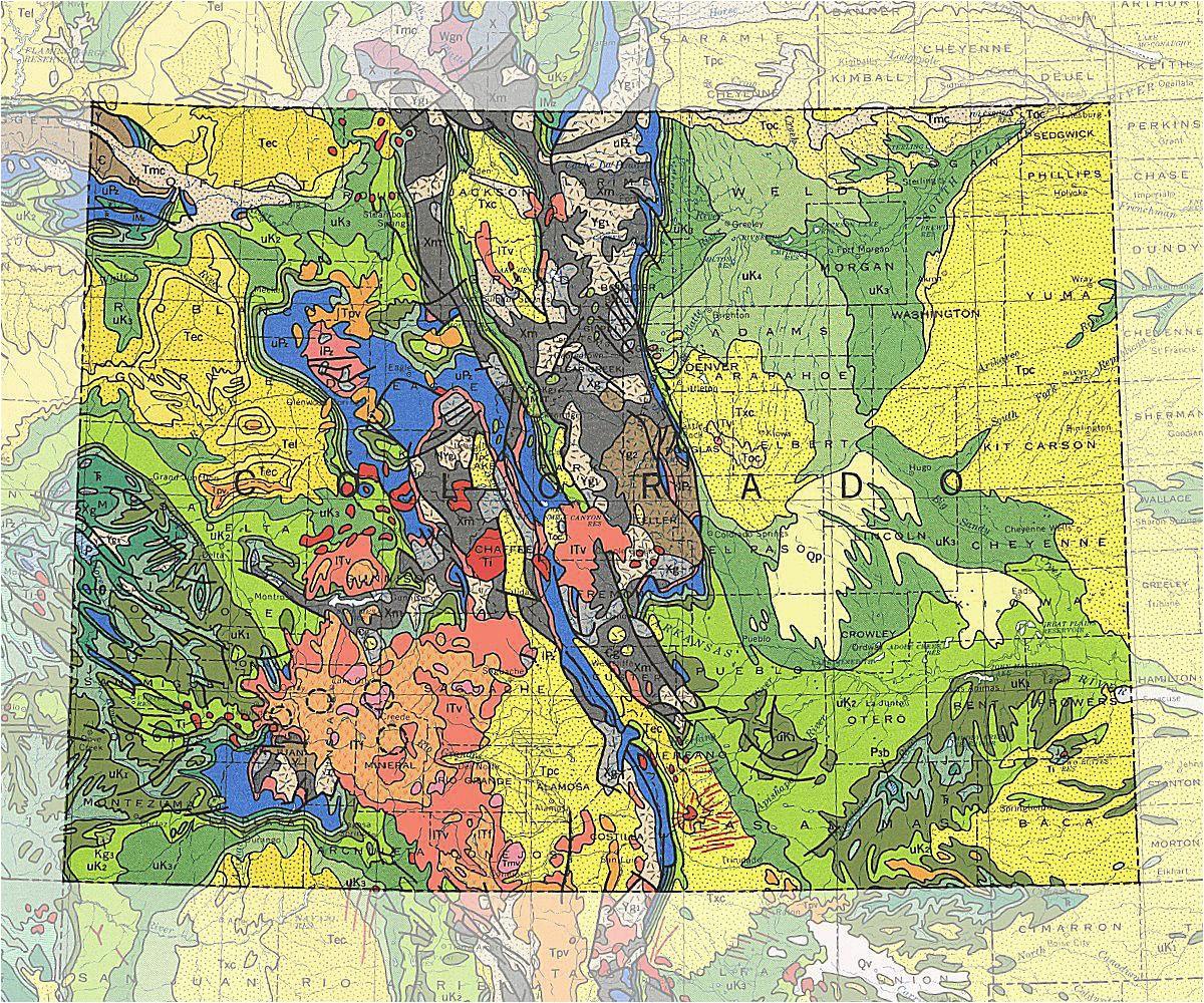 Colorado Geological Map   secretmuseum