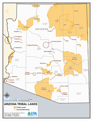 list of indian reservations in arizona wikipedia