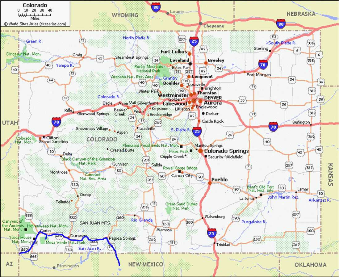 Map Of Grand Junction Colorado Colorado Map Grand Junction | secretmuseum