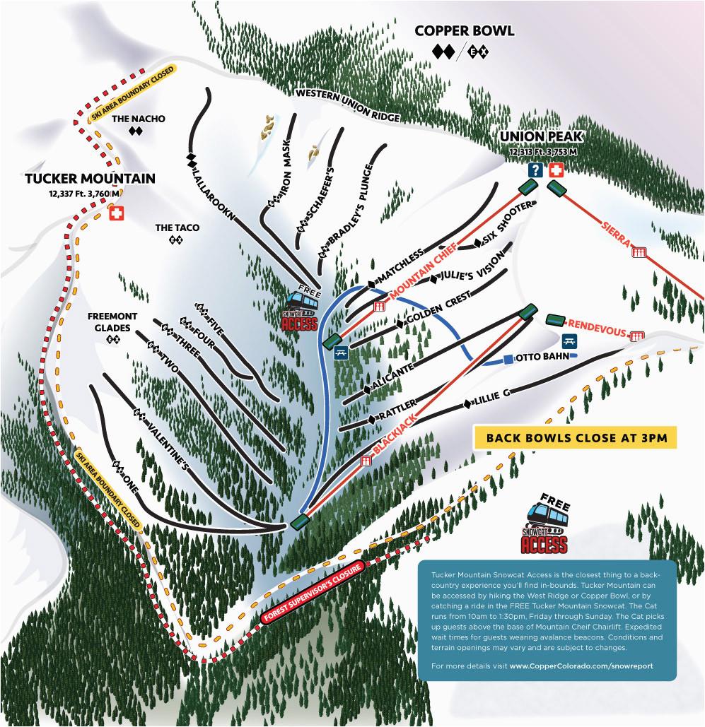 Colorado Map Of Ski Resorts Copper Winter Trail Map – secretmuseum