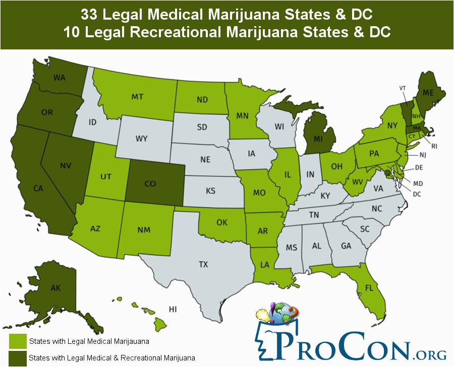 Colorado Marijuana Dispensary Map 33 Legal Medical Marijuana States and Dc Medical Marijuana