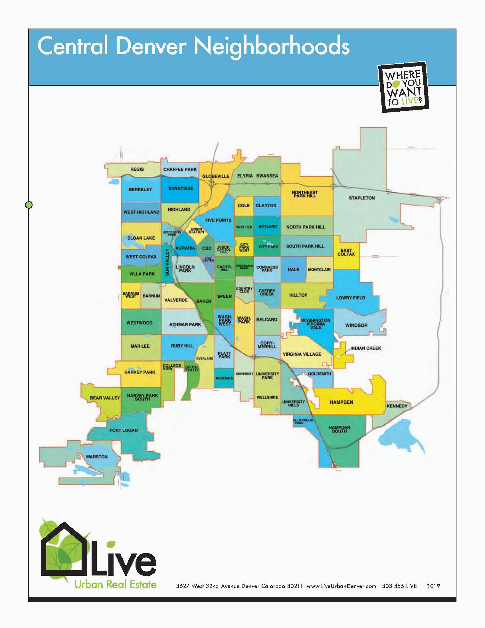 denver neighborhood map l find your way around denver l neighborhood