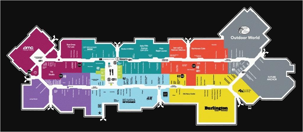 image regarding Printable Directory referred to as Colorado Mills Merchants Map Ontario Mills Listing Map the
