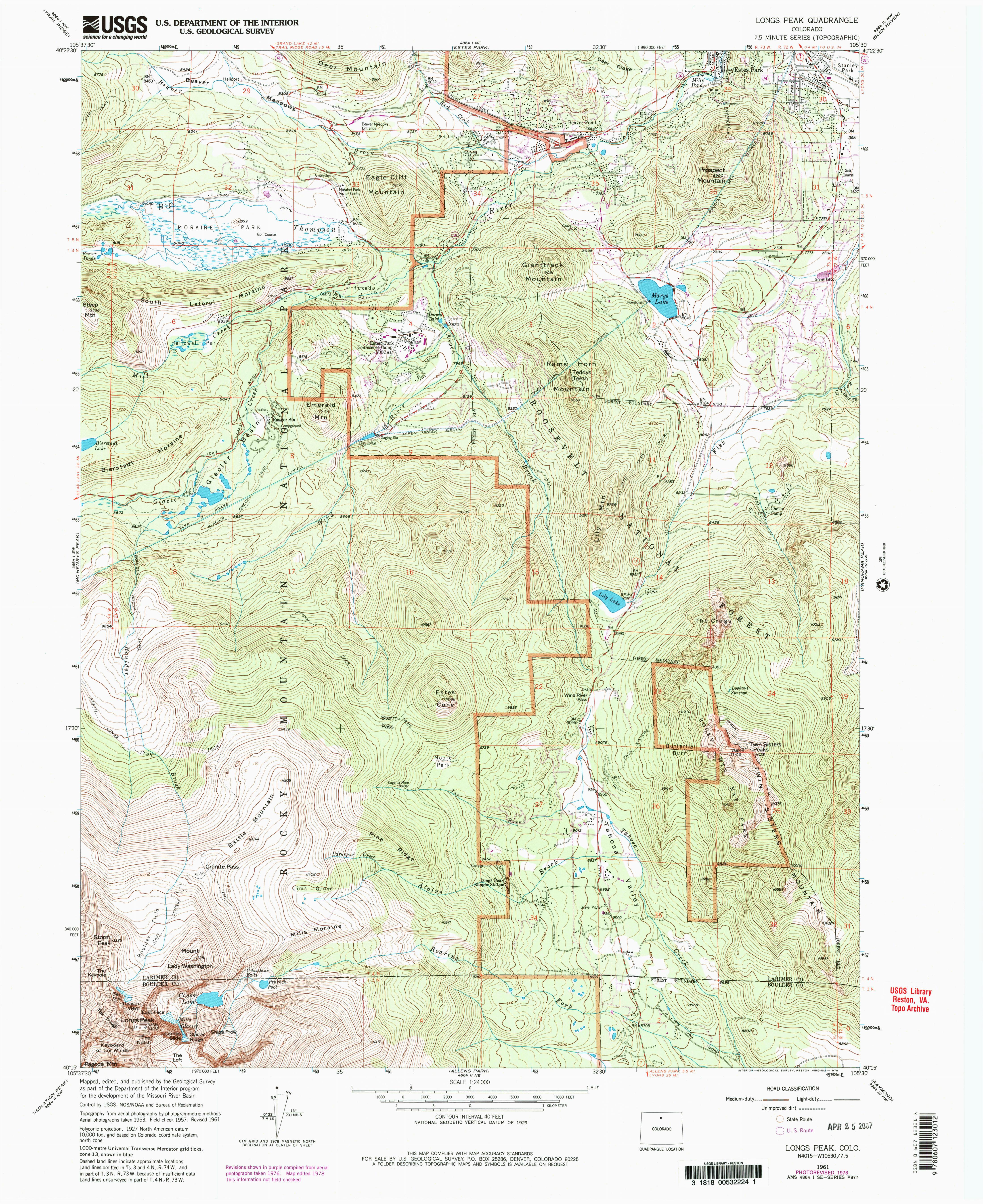 Colorado Mountain Peaks Map | secretmuseum