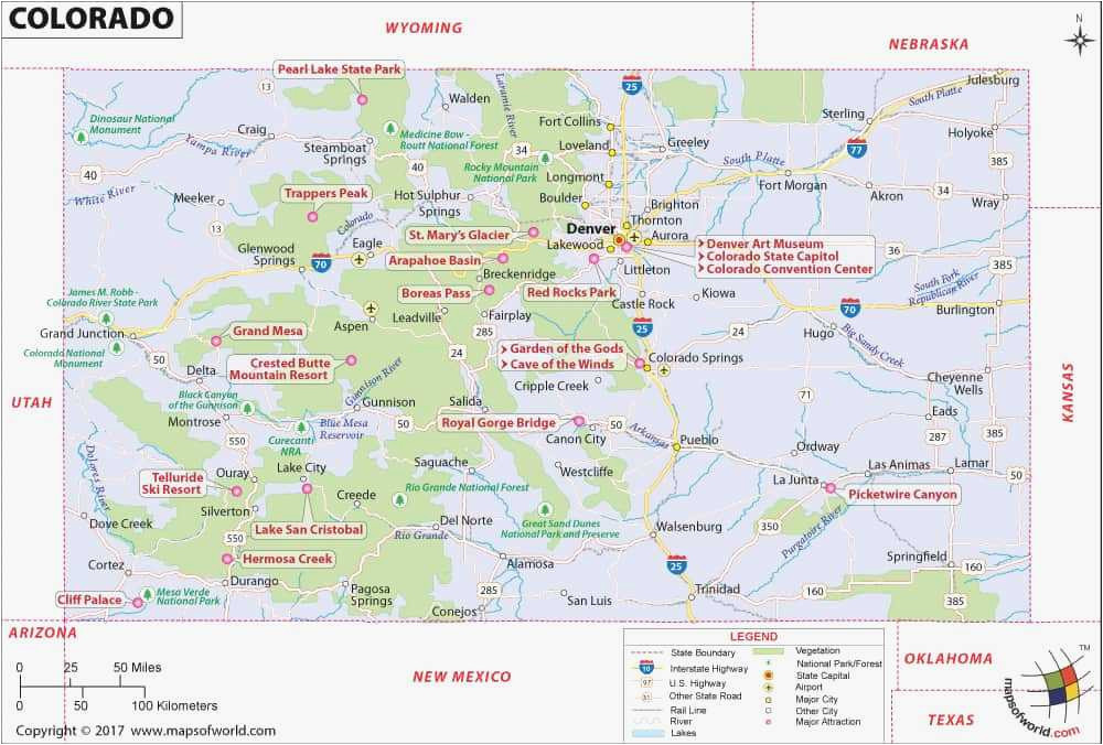 colorado lakes map luxury colorado mountain ranges map printable map