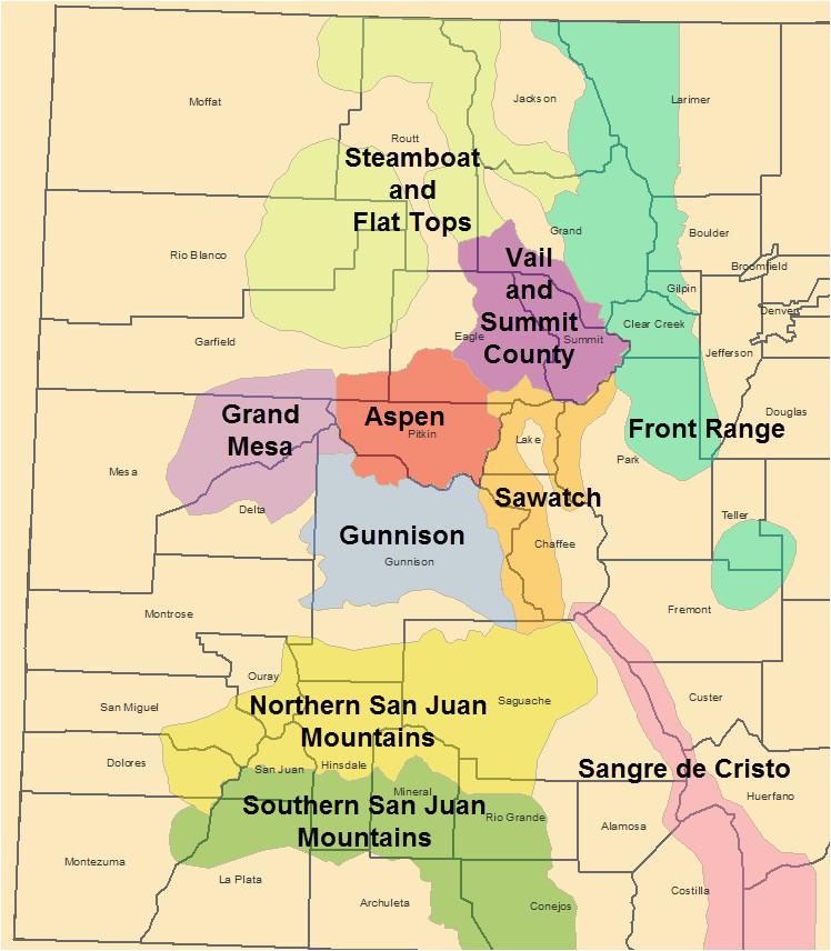 Colorado Mountain Ranges Map Colorado Mountains Map Elegant ...